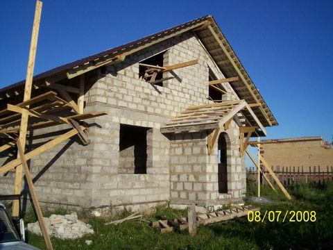 Дачный дом своими руками, строим крышу дома